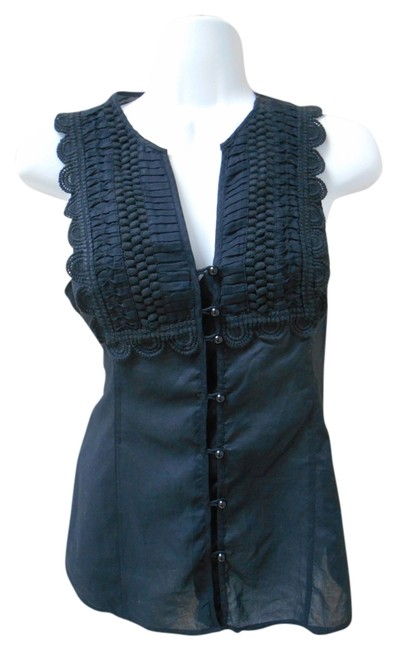 Preload https://img-static.tradesy.com/item/3430369/express-black-lace-button-front-sleeveless-blouse-size-6-s-0-0-650-650.jpg