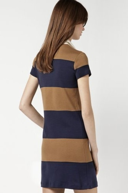 Lacoste short dress brown white navy blue on Tradesy