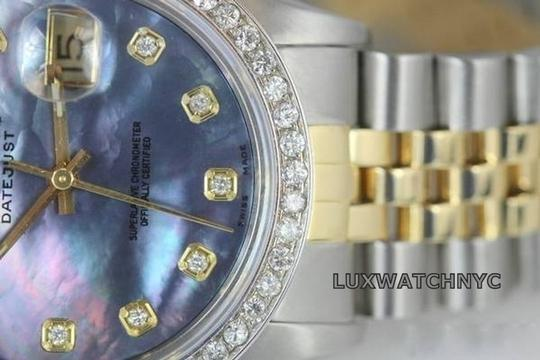 Rolex MENS ROLEX DATEJUST 18K S/S WATCH 2 CT DIAMOND WATCH