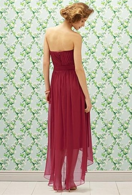 Lela Rose Strapless Chiffon Dress