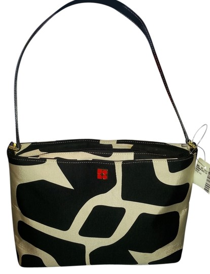 Preload https://img-static.tradesy.com/item/3431053/kate-spade-animal-print-black-beige-silk-blend-fabric-shoulder-bag-0-0-540-540.jpg