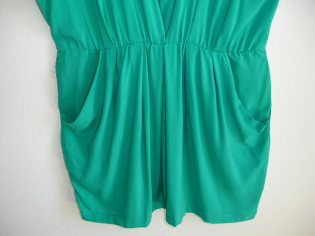 reign short dress teal green Pull-on Jade Cinched Mini Short Es Comfortable Pull-on Es Pull-on Cinched Waist Elastic on Tradesy