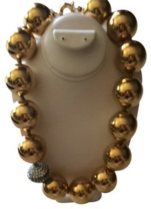 Necklace With Gold & Crystal Balls