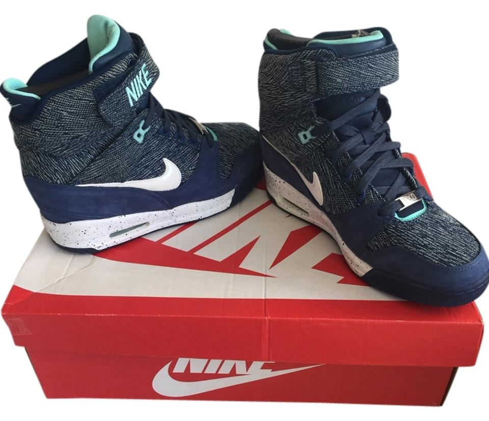 8f6ab1ce Nike Blue W Air Revolution Sky Hi Fw Qs Wedges Size US 8 Regular (M, B) 70%  off retail