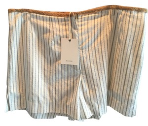 Billy Reid Dress Shorts white with blue stripe design