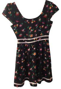 Urban Outfitters short dress Bue, Floral Cut Out Zipper on Tradesy