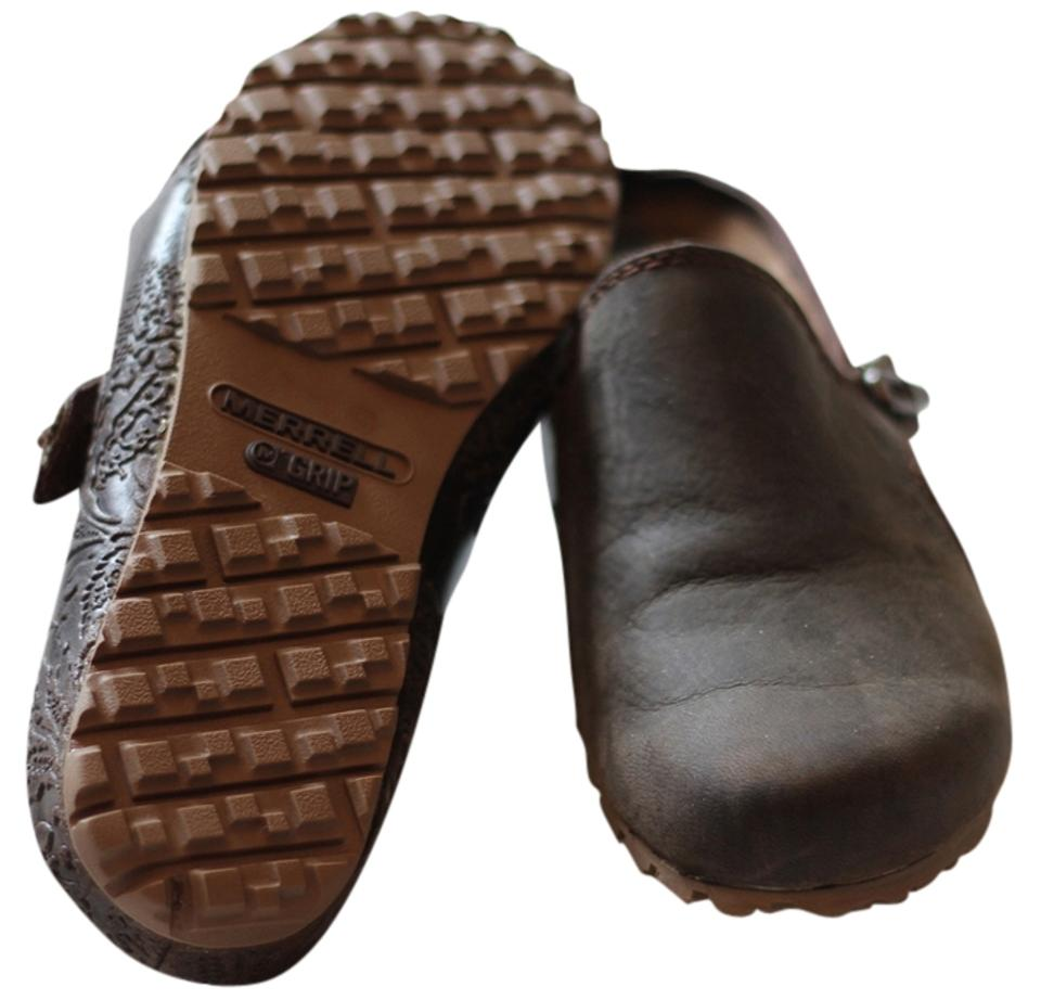 Ladies Merrell Brown Mules/Slides clearance sale sale clearance db4b71