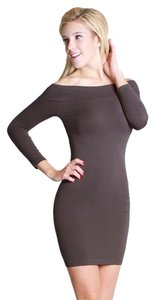 Nikibiki short dress Gray Charcoal Off 3/4 Sleeve Bodycon on Tradesy
