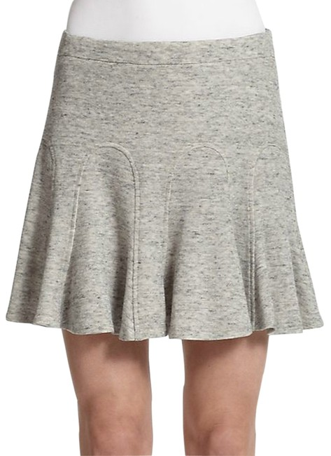 Derek Lam Godet Godet Pleats Fit And Flare Flare Cotton Jersey 10crosby 10crosby Skirt heather grey