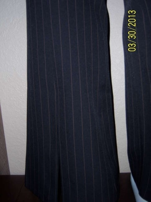 MF Collection Flare Pants Black with Taupe pinstripe