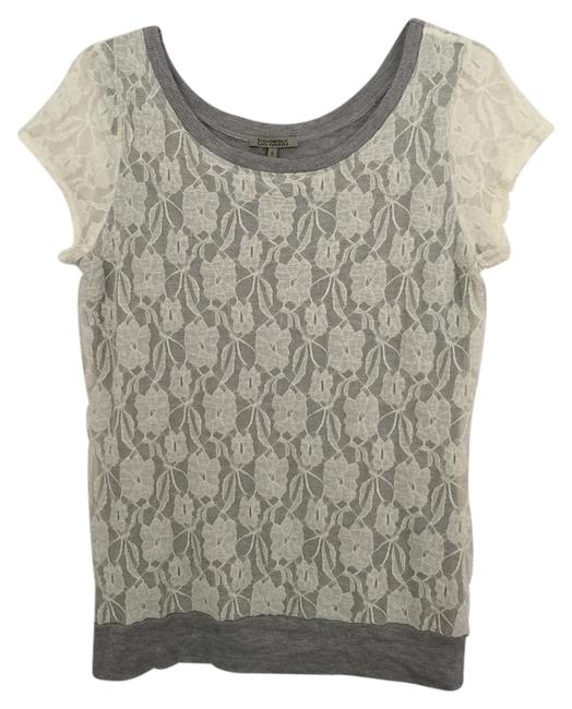 Preload https://item1.tradesy.com/images/anthropologie-gray-white-bordeaux-tunic-size-4-s-3431665-0-0.jpg?width=400&height=650