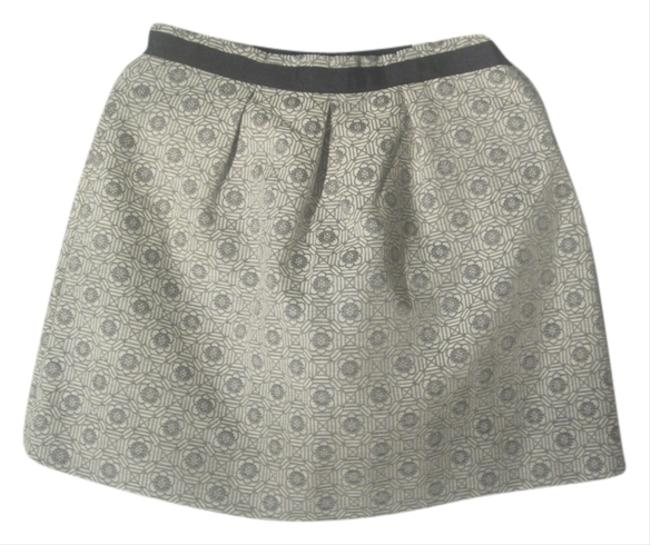 Maison Jules Mini Skirt Off- White/Grey
