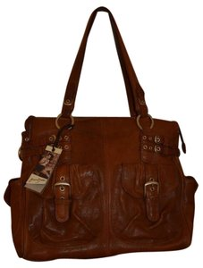 Junior Drake Butter Soft Leather Crossbody Tote in Brown