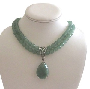Other Hot in Hollywood Beaded Necklace with Large Pear Shape Enhancer