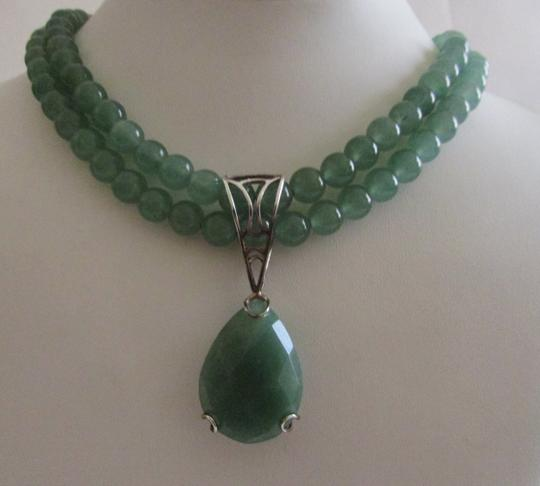 Other Hot in Hollywood Double Strand Green Aventurine Beaded Necklace