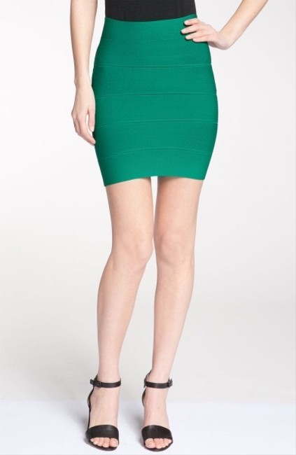 BCBGMAXAZRIA Skirt True Green