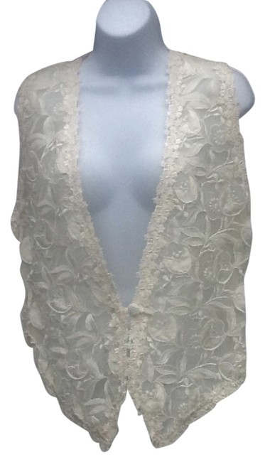 Preload https://img-static.tradesy.com/item/3432172/lined-satin-embroidered-lace-vest-size-4-s-0-0-650-650.jpg