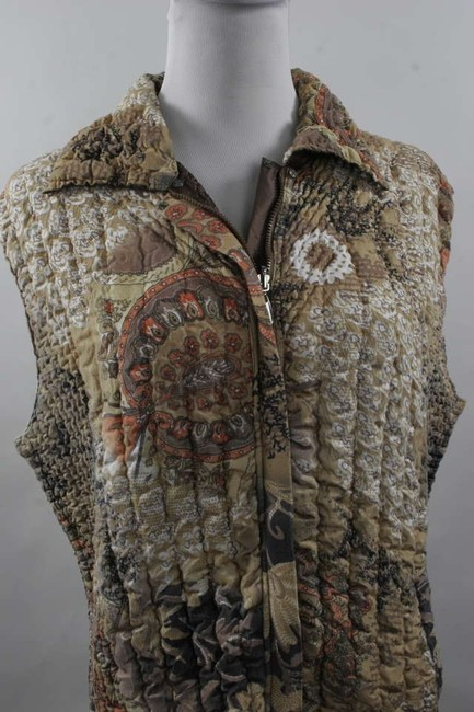Other Reversible Autumn Colors Cushion Soft Ruffled Warm Vest