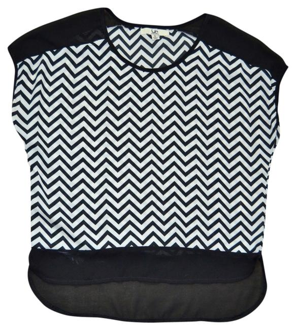 Ya Los Angeles Pattern Black And White Top