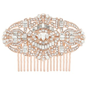 Art Deco/gatsby/1920's/downton Rose Gold Hair Comb