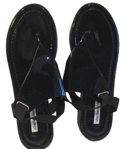 Charles David Black patent leather E39 NEW Sandals