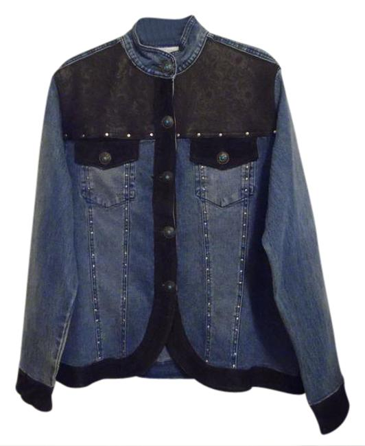 Preload https://img-static.tradesy.com/item/3433249/dg2-by-diane-gilman-blue-embellished-14l-denim-jacket-size-14-l-0-2-650-650.jpg