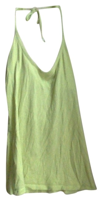 Item - Light Green Cotton Summer Casual Simple Halter Top Size 4 (S)
