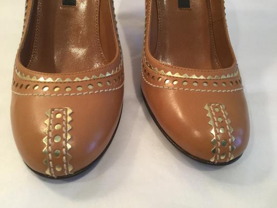 Sergio Rossi Brown with gold Pumps