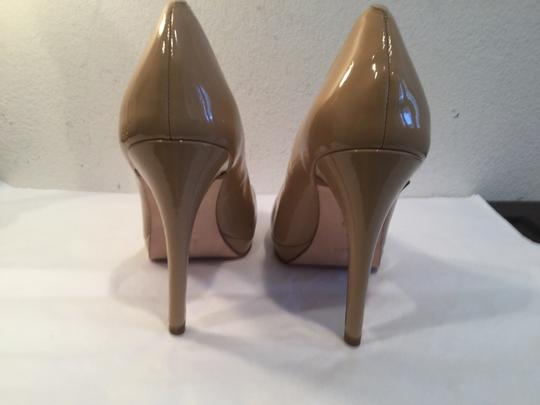 Cole Haan All Small Platform NEW Beige patent leather NikeAir soles leather lining peep toe Pumps