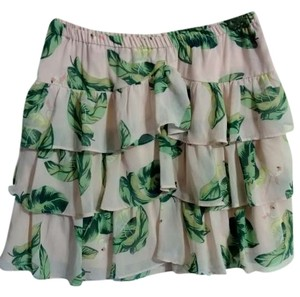 Target Mini Skirt pink, green, and white