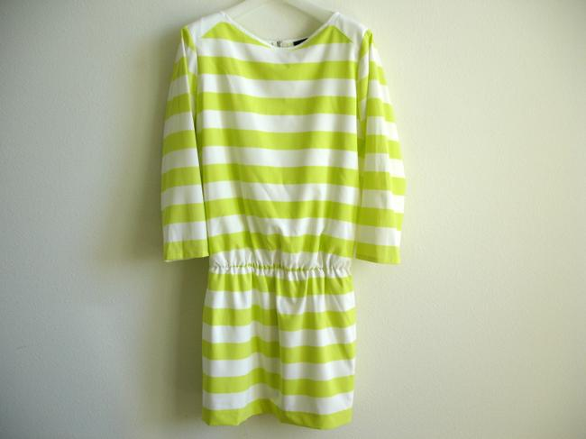 Alex + Alex short dress citron And Striped Yellow Mini Short Cinched Yellow Stripes on Tradesy