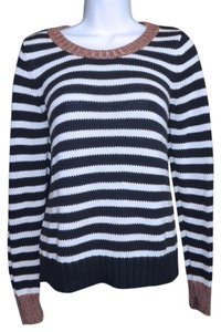 Banana Republic Crew Neck Striped Cotton Sweater