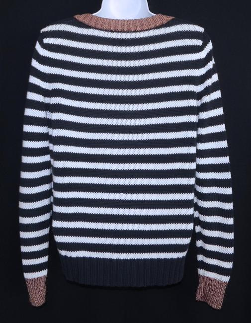Banana Republic Crew Neck Striped Cotton Machine Washable Sweater