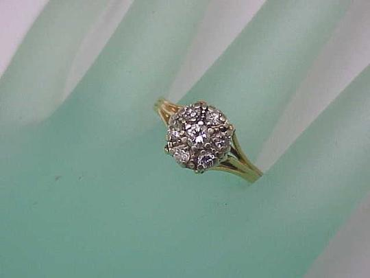 Other Antique Vintage Estate 14kt Yellow Gold .68cttw Diamond Ring,1930's