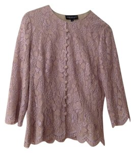 Carmen Marc Valvo Top Lilac lace