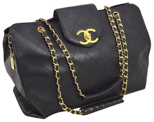 Preload https://img-static.tradesy.com/item/3434221/chanel-supermodel-quilted-tote-black-lambskin-leather-weekendtravel-bag-0-11-540-540.jpg