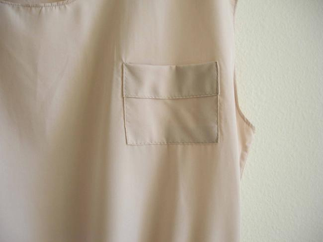 Other short dress beige Rayon Pull On Easy Elastic Waist Pull-on Crew Neck Viscose Mini Short on Tradesy