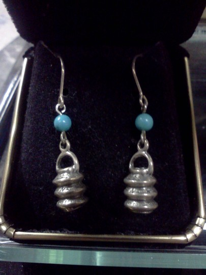 Preload https://item5.tradesy.com/images/925-silver-with-blue-beads-vintage-sterling-earrings-3434449-0-0.jpg?width=440&height=440