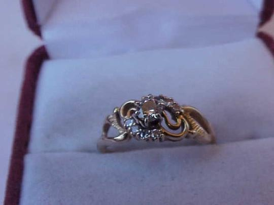 Other Art Deco 14kt .41cttw Solitaire Brilliant Cut Diamond YG Ring, 1930's