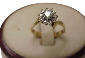Other Estate .70ct Genuine Solitaire Diamond 14kt Yellow Gold Ring, 1930's