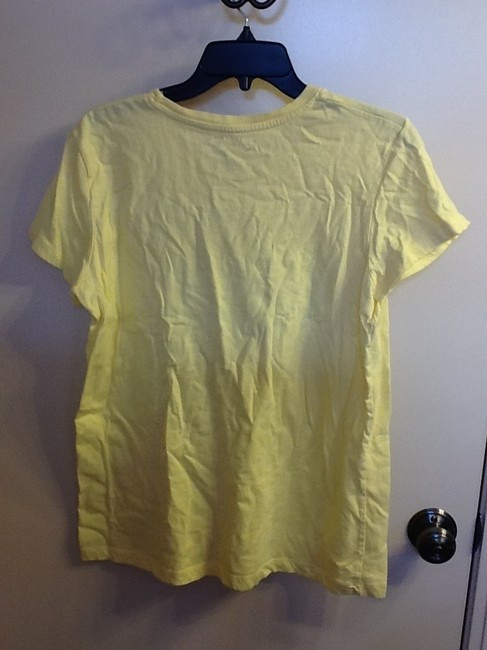 Sonoma Comfortable Sleeve Floral Loose Fit Casual T Shirt Yellow