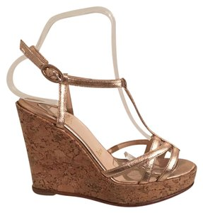 Christian Louboutin Rose Gold Wedges