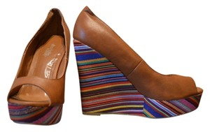 Charlotte Russe Hawkenapparel Aztec Brown Wedges