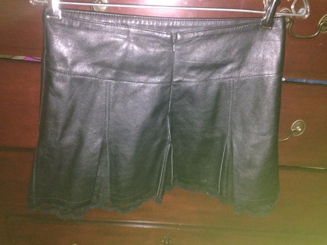 bebe Mini Skirt Leather black