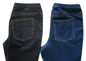 Hue Denim Black Denim Black Skinny 2 Sets Jeggings-Medium Wash