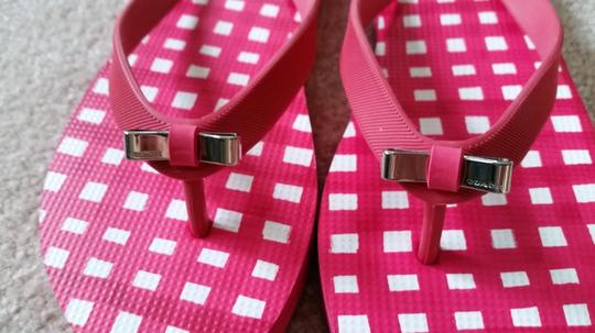 Coach Flip Flops Flipflops Red and White Sandals