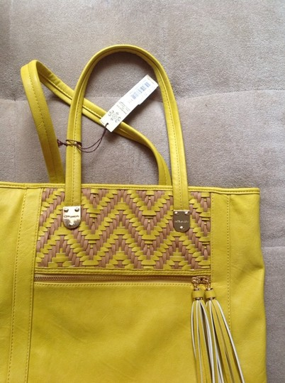Kate Landry Tote in Yellow/Naked
