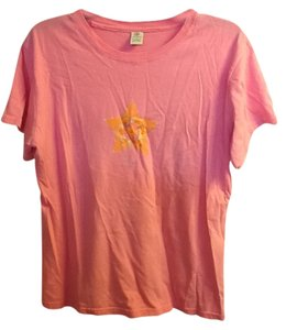 Gaiam Comfortable Glitter Star T Shirt Pink