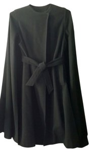 Wool Belted Casual Couture Cape