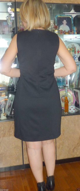 Anne Fontaine Lbd Wool Sheath Bodycon Sleeveless Stunning Dress